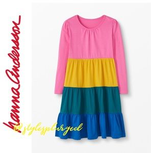 NWT Hanna Andersson Colorblock Twirl Dress size 4